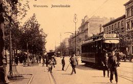 VARSOVIE / WARSAW / WARSZAWA : JEROZOLIMSKIE - TRAMWAY No. 18 : MOTOKOW - ANNÉE / YEAR ~ 1910 - '915 (ad946) - Polonia