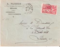 25c. Jeux Olympiques PARIS Sur Lettre Recommandée Oblitéré BELLAC Haute Vienne - Poststempel (Briefe)