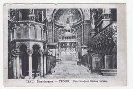 Trogir Trau Stolna Crkva Old Postcard Posted 1945 To Zagreb B200210 - Croazia
