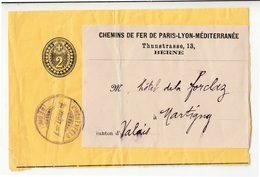 Switzerland ONLY PART Of Postal Stationery Newspaper Wraper Posted 1897? B200210 - Entiers Postaux