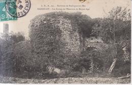 Hardelot Les Ruines De L'Enceinte Du Moyen Age 1909 - Boulogne Sur Mer