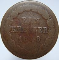 LaZooRo: Germany NASSAU 1 Kreuzer 1848 G - [ 1] …-1871 : German States