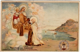 LA MADONNA DEL CARMINE CONSEGNA A S. SIMONE STOCK IL S. SCAPOLARE - 1921 - Vedi Retro - Formato Piccolo - Vergine Maria E Madonne