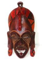 Masque En Bois Africain - Art Africain