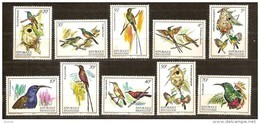 Rwanda Ruanda 1983 Yvert 1089-1098 OCBn° 1149-58 *** MNH Cote 15,00 Euro Faune Oiseaux Vogels Birds Colibri - 1980-89: Neufs