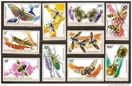 Rwanda Ruanda 1973 OCBn° 501-510 *** MNH Cote 12 Euro Faune Insectes - 1970-79: Neufs