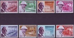 Rwanda Ruanda 1976 OCBn° 713-720 *** MNH Cote 3,75 Euro Schweitzer - 1970-79: Neufs