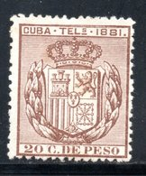 TELEGRAPHE / TELEGRAFOS YT 51 NEUF SANS GOMME - - Cuba (1874-1898)