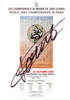 JUDO Affiche Signée David Douillet - Judo