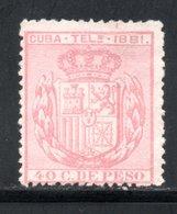 TELEGRAPHE / TELEGRAFOS YT 52 NEUF SANS GOMME - - Kuba (1874-1898)
