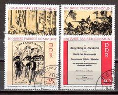DDR 1971 Mi. 1655-1658 Pariser Kommune Gestempelt (p1345) - [6] République Démocratique