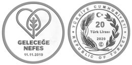 AC - BREATH FOR THE FUTURE - 1 MINESTRY OF AGRICULTURE AND FORESTRY COMMEMORATIVE SILVER COIN PROOF - UNC TURKEY 2020 - Turquia