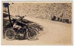 VECCHIA FOTO - OLD PHOTO - MOTOCICLETTA - MOTORCYCLE - Vedi Retro - Sport