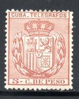 TELEGRAPHE / TELEGRAFOS YT 74 NEUF * - - Kuba (1874-1898)