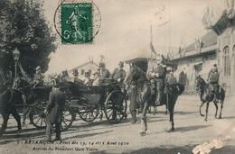 Besançon - Fêtes 13, 14, 15 Août 1910 - Arrivée Du Président Armand Fallières, Gare Viotte - Recepciones