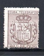 TELEGRAPHE / TELEGRAFOS YT 62 NEUF **  -  SANS CHARNIERE COTE 12 € - Cuba (1874-1898)