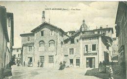 (38) Saint-Antoine : Une Place (petite Animation) - Autres Communes