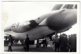 VECCHIA FOTO - OLD PHOTO - AEREI - IMBARCO PERSONE SU DC-9 - Vedi Retro - Aviazione