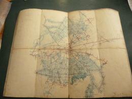 Carte Entoilée : SENLIS, Avec Forêts De Senlis (Sud) Et D'Halatte (Nord). - Cartes Topographiques