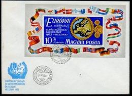 Hongrie - Hungary - Ungarn FDC 1975 Y&T N°BF119 - Michel N°B113A - EUROPA KSZE - FDC