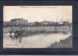 60. Creil. Bords De L'oise Et Place Carnot - Creil