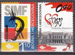 Bosnia & Herzegowina 1999 Music Festival  Michel 186-87  MNH 25826 - Musica