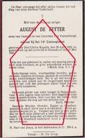 August De Feyter Soldaat Soldier Gesneuvelde 1940 Sint-Ulriks-Kapelle Ramsdonk Slachtoffer WW2  War Victim Doodsprentje - Guerre 1939-45