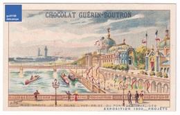 Chromo Chocolat Guérin-Boutron Projets Exposition Universelle De Paris 1900 Seine Pont Des Invalides Péniche A32-61 - Guérin-Boutron
