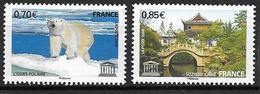 France 2009 Service N° 144/145 Neufs UNESCO à La Faciale - Service
