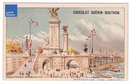 Chromo Chocolat Guérin-Boutron Projets Exposition Universelle De Paris 1900 Seine Pont Alexandre III Aviron A32-62 - Guérin-Boutron
