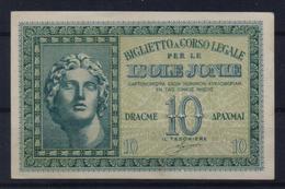 GREECE BANKNOTE/IONIAN ISLANDS  10Drx-1941-UNC(PR) - Greece
