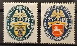 DEUTSCHES REICH 1928 - MLH - Mi 426, 428 - Nothilfe! - Alemania