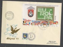 Hongrie - Hungary - Ungarn FDC 1977 Y&T N°BF132 - Michel N°B126A - EUROPA KSZE - Conseil De L'Europe - FDC
