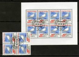 Prag 1983 CSSR 2720,ZD,4-Block+Kleinbogen O 7€ Friedenstreffen Picasso Taube KSZE Bloc Sheetlet Bf Tschechoslowakei - Tchécoslovaquie
