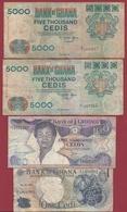 Ghana 10 Billets Dans L 'état - Ghana