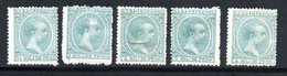 CUBA  IMPRIMES IMPRESOS / 1896 BLEU-VERT YT N) 25 à 29 NEUF * AVEC CHARNIERE - Kuba (1874-1898)