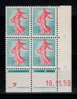 Coin Daté YV 1233 N** Du 16.11.59 , 1 Point - 1950-1959