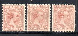 CUBA  IMPRIMES IMPRESOS / 1892 VIOLET YT N° 7 - 8 - 11 NEUF * AVEC CHARNIERE - Kuba (1874-1898)