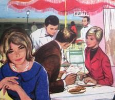 VINTAGE SNCF LES BUFFETS DE LA GARE  DÉPLIANT TARIFS 1er AVRIL 1961 VOYAGEURS TOURISTES GOURMETS TOUTES GARE FERROVIAIRE - Chemin De Fer