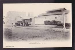 CPA Algérie Colomb Béchar Gare Chemin De Fer Train Non Circulé - Bechar (Colomb Béchar)