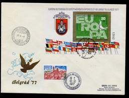 Hongrie - Hungary - Ungarn FDC 1977 Y&T N°BF132a - Michel N°B126B - EUROPA KSZE - Conseil De L'Europe - FDC