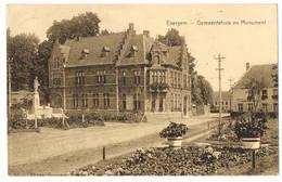 Evergem: Gemeentehuis En Monument ( 2 Scans) - Evergem