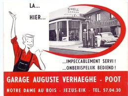 Pub Reclame - Shell Garage Auguste Verhaeghe - Poot - Notre Dame Au Bois - Jezus Eik - Publicités