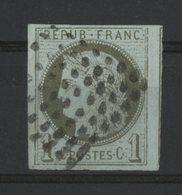N° 14 / COLONIES GENERALES Cote 14 € 1ct Vert Type Cérès Avec De Belles Marges Et Filet Voisin. Lire Description - Cérès