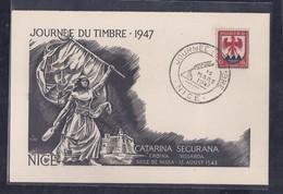 Carte Locale Journee Du Timbre 1947 Nice - ....-1949