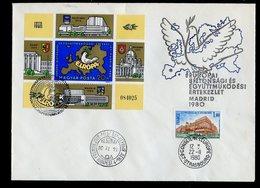 Hongrie - Hungary - Ungarn FDC 1980 Y&T N°BF151 - Michel N°B147A - EUROPA KSZE - Conseil De L'Europe - FDC