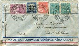BRESIL LETTRE VIA AEREA -- COMPAGNIE GENERALE AEROPOSTALE DEPART NATAL 21 DEZ 30 POUR LA FRANCE - Luchtpost