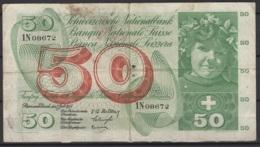 Suisse : 50 FS 7 Juillet 1955. Je Vous Laisse Juger De Son état. KM N° 47a - Suiza