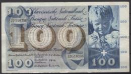 Suisse : 100 FS 18 Décembre 1958. Je Vous Laisse Juger De Son état. KM N° 49c - Suiza