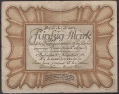 Allemagne : 2 X 50 Reichsbanknote 30/11/1918. Je Vous Laisse Juger De Leurs états. KM N° 65 - [ 3] 1918-1933 : República De Weimar
